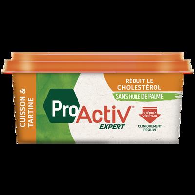 Margarine allégée cuisson et tartine sans huile de palme PRO ACTIV expert, 55%MG, 450g
