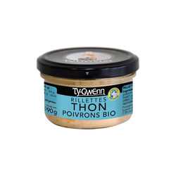 Rillettes de thon aux poivrons bio TY GWENN, 90g