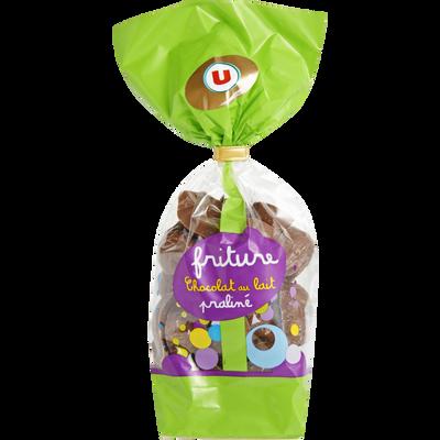 Friture en chocolat au lait au praliné prestige U, sachet de 250g