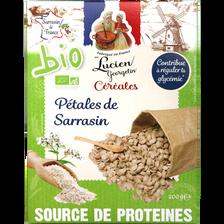 Céréales pétales de sarrasin BIO LUCIEN GEORGELIN, paquet de 200g
