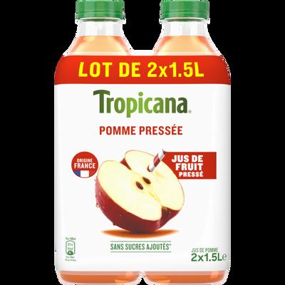 Pur jus de pomme Pur Premium TROPICANA Pet 2x1,5L Format Familial