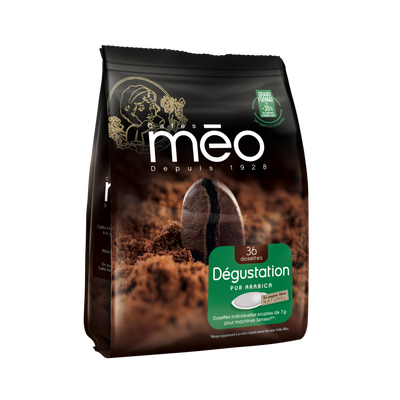Café dégustation MEO, x36 dosettes soit 252g
