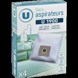 SAC ASPIRATEUR U U1900 X4