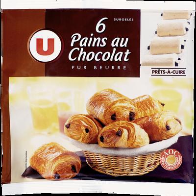 Pain au chocolat U, 6x70g