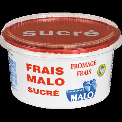 Fromage frais sucré 7% de MG, MALO, pot de 500g