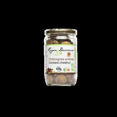 Marrons entiers naturels bio, bocal de 420g