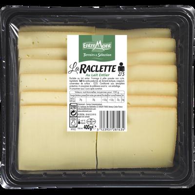 La raclette, au lait entier pasteurisé, 29%MG, ENTREMONT Terroirs et Sélection, 400g