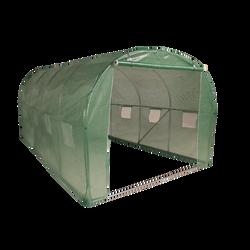 Serre tunnel en acier 12m2 3x4x2m 140g/m2-structure 19mm