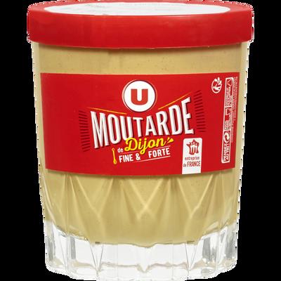 Moutarde de Dijon U, verre de whisky Elisa 31cl, 280g