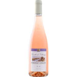 Vin rosé AOC Cabernet d'Anjou COMTE DE VILLAREY, 75cl
