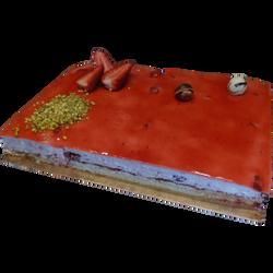 Croustillant fraise, 6 parts, 600g