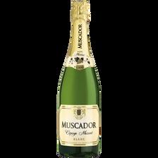 Vin blanc mousseux doux MUSCADOR, 75cl