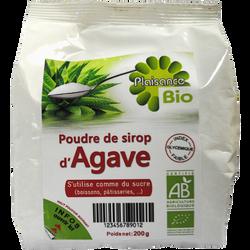 Poudre de sirop d'agave PLAISANCE BIO, 200g