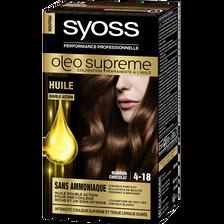 Coloration permanente intense Oléo Suprême SYOSS, marron chocolat n°4-18