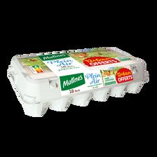 Matines Oeufs Poules Plein Air Tous Calibres , 12+6 Offerts