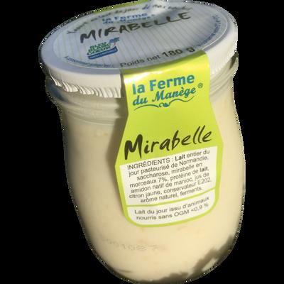 Yaourt entier au lait du jour mirabelle LA FERME DU MANEGE, 180g