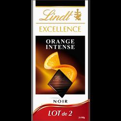 Chocolat noir orange intense Excellence LINDT, 2x100g