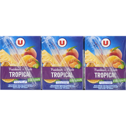 Fraîcheur de fruit tropical riche en fruits U, 6 briques de 20cl