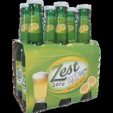 Bière zest zéro citron, pack de 6x33cl