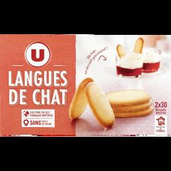 Langue de chat U, 200g