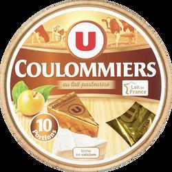 Fromage pasteurisé Coulommiers U, 23% de MG, x10 soit 350g