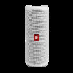 Enceinte nomade JBL FLIP5 blanc-20w RMS-bluetooth-basses profondes-étanche(IPX7)-autonomie batterie 12h