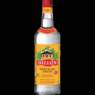 Rhum blanc agricole AOC de la Martinique DILLON, 55°, bouteille de 1l