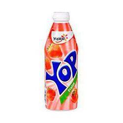 Yaourt à boire parfum fraise YOP, bouteille de 500g