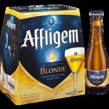 Bière blonde, 6,7°, AFFLIGEM, pack bouteille de 6x25cl