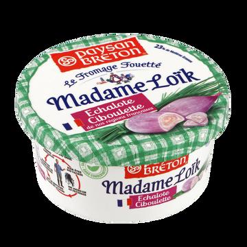 Paysan Breton Fromage Fouetté Lait Pasteurisé Madame Loîk Échalote Ciboulette Paysanbreton, 23%mg, 150g