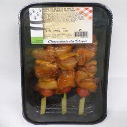 Brochette de filet de poulet miel / épices douces faite main, CHARCUTERIE DU BLAVET, 450 g.
