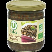 Lentilles cuisinées U BIO, paquet de 265g