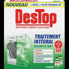 Nettoyant complet désinfectant lave-linge traitement intégral, DESTOP,2 flacons de 250ml