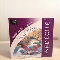 Vin Cabernet Sauvignon Cellier du Pont d'Arc IGP Ardèche Vignerons Ardéchois 3L