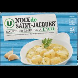 Noix coquille Saint Jacques sauce crémeuse à l'ail U, 250g