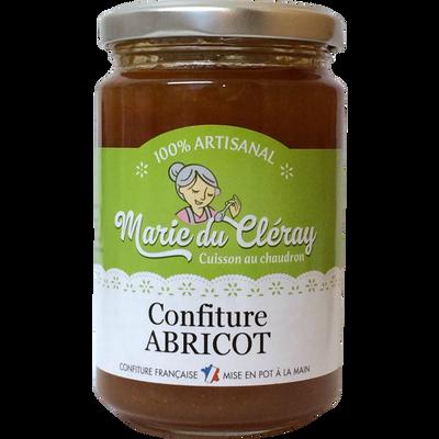 Confiture d'abricot MARIE DU CLERAY, pot de 350g