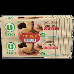 Goûters fourrés chocolat noir U BIO 2x185g