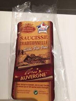 Saucisse sèche traditionelle pur porc Louis D'Auvergne 300g Philis