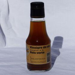 Vinaigre aromatisé noix verte NICONOIX, bouteille de 25cl