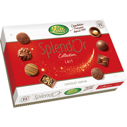 Chocolat au lait splendor LUTTI, boîte de 390g