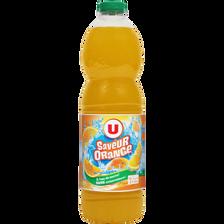 Boisson aux fruits plate orange U, bouteille de 2l