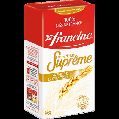 FRANCINE suprême FRANCE FARINE, paquet de 1kg