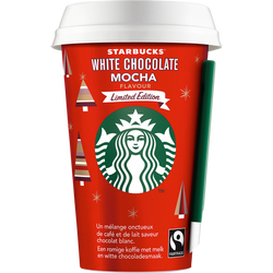 Boisson lactée café arabica chocolat blanc mocha STARBUCKS, cup de 220ml