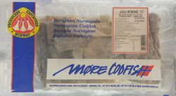 Julienne salée et séchée MORE CODFIS, 1kg