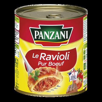 Ravioli pur boeuf PANZANI, boîte 4/4 de 800g
