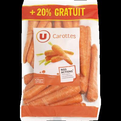 Carotte, U, France, sachet 1kg + 20% offert