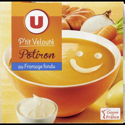 P'tit velouté potiron au fromage fondu U, 2 unités, 30cl