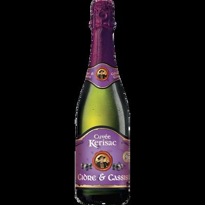 Cidre et cassis cuvée KERISAC, 3°, bouteille de 75cl