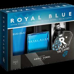 Coffret royal blue Arno Sorel edt 100ml+savon dche 100ml+jeu de carte