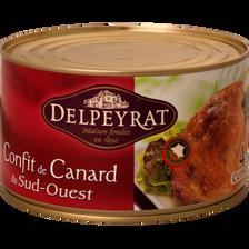 Delpeyrat Confit De Canard Igp Du Sud Ouest , 4 Cuisses Soit 1,350kg
